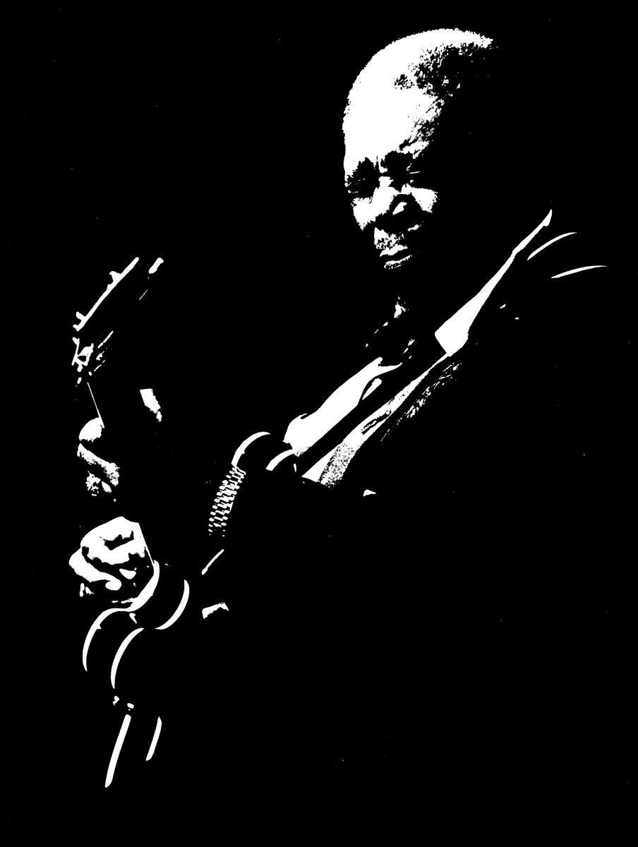 Bb king 1 terrydoesart for Black and white only